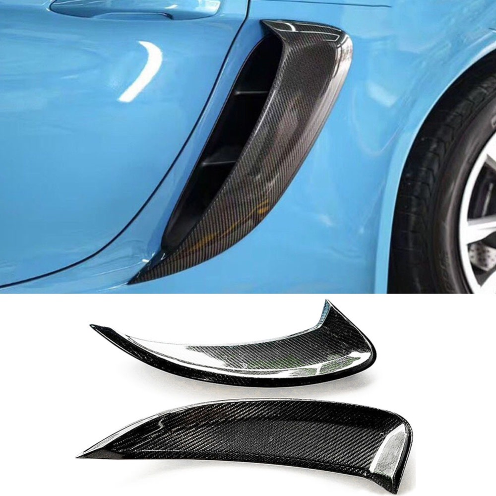 <font><b>718</b></font> carbon fiber side air vents for Porsche <font><b>718</b></font> <font><b>Boxster</b></font> Cayman 2016-2018 carbon fiber refit side image