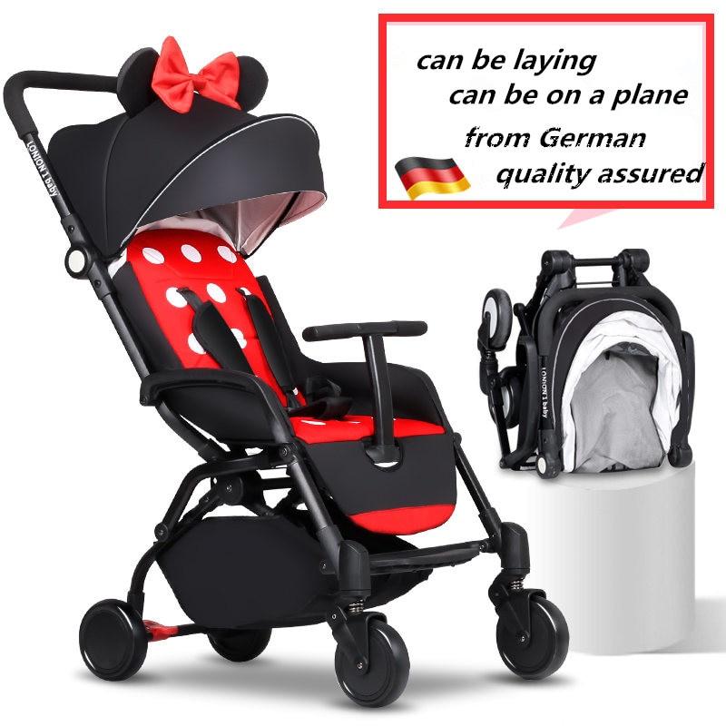 Европейские Роскошные складной детская коляска зонт детские автомобильные перевозки малыша коляска Путешествия универсал легкий Портати... ...