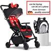 European Luxury Folding Baby Umbrella Stroller Baby Car Carriage Kid Buggy Pram Travel Baby Wagon Lightweight