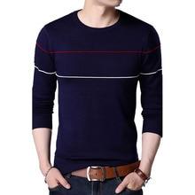 2018 New Autumn Casual Sweater Men V-Neck Slim Fit Men Sweat