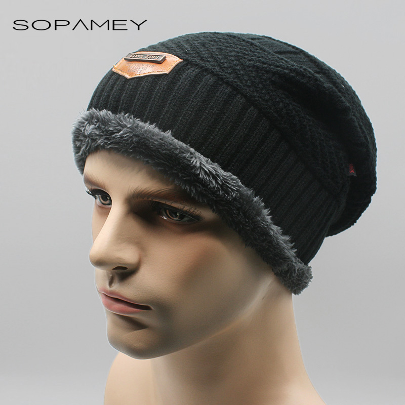 Men Warm Hats Beanie Winter Knitting Caps for Unisex Lady Beanie Knitted Cap Women's Hat Outdoor Ski Sport Warm 2017 New bone new winter beanies solid color hat unisex warm grid outdoor beanie knitted cap hats knitted gorro caps for men women