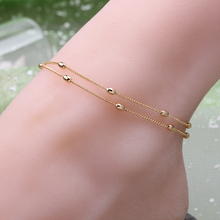Fashion woman plating gold silver chain bracelet Anklets crystal imitation pearls classic summer beach Anklets jewelry gift
