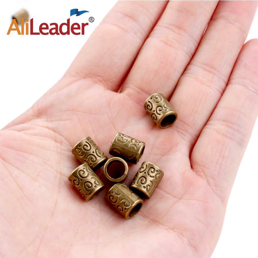 Alileader Mix Haar Geflecht Brot Dreadlock Perlen Manschetten Clips Schmuck Antike Kupfer Farbe Ringe Für Braid Furcht Dreadlock Perlen