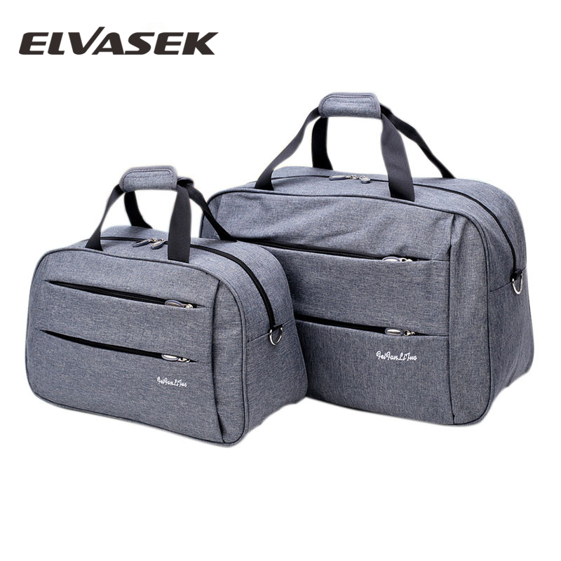 Luggage travel bags Waterproof canvas men women big bag on wheels man shoulder duffel Bag black gray blue carry on cabin luggage(China)