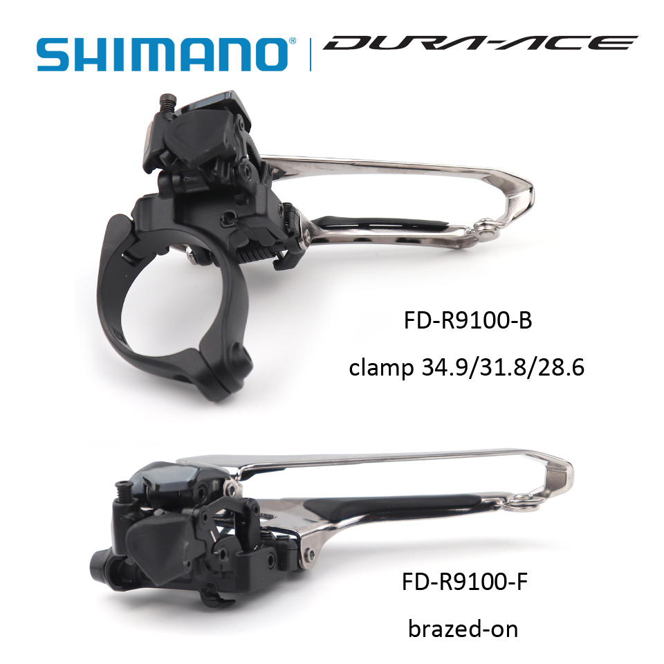 SHIMANO Dura Ace FD R9100 FD-R9100-B FD-R9100-F Front Derailleur 2x11s Brazed-on or Clamp 34.9mm 31.8mm 28.6mm цена