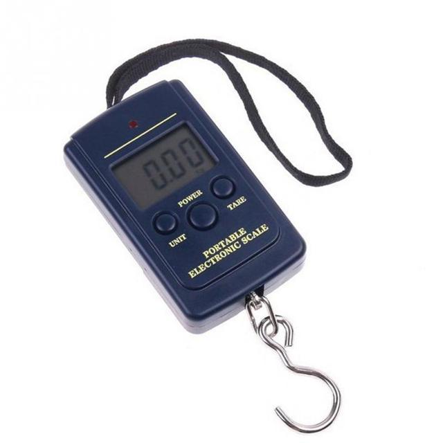 1Set Portable Electronic Digital Scale 0.01kg – 40kg Hanging Luggage Weight Balance Steelyard Black 10*5cm