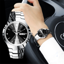Роскошные Брендовые Часы для влюбленных, парные водонепроницаемые часы из вольфрамовой стали для мужчин и женщин, парные часы для влюбленных, наручные часы, Relogio Feminino