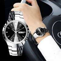 2017 Luxury Brand Lover Watch Pair Waterproof Tungsten Steel Men Women Couples Lovers Watches Set Wristwatches