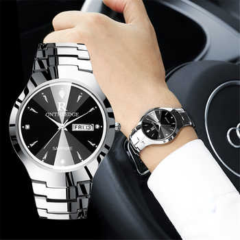 2018 Luxury Brand Lover Watch Pair Waterproof Tungsten Steel Men Women Couples Lovers Watches Set Wristwatches Relogio Feminino - DISCOUNT ITEM  30% OFF All Category