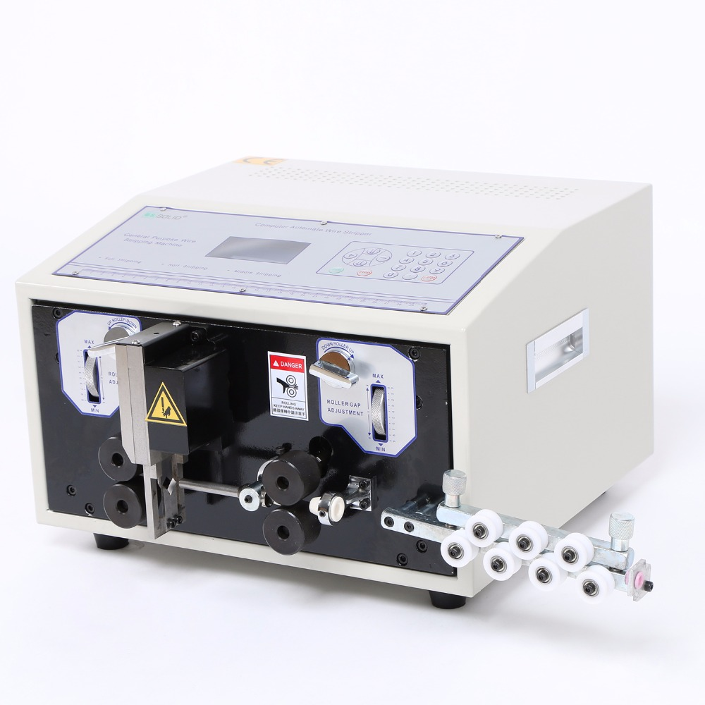 110 V Automatic  Wire Striping Cutting Machine 0.1 - 8 mm2 Computer Controlled SWT508-E professional welding wire feeder 24v wire feed assembly 0 8 1 0mm 03 04 detault wire feeder mig mag welding machine ssj 18