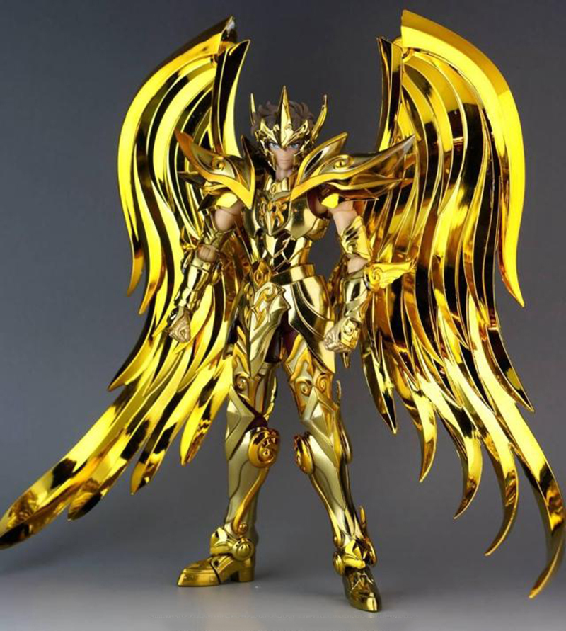 18cm Gold Myth Cloth Model GT Saint Seiya Ex Sagittarius Aiolos Soul of Gold SOG Metal Armor Action Figure model fans free shipping qq model sagittarius aiolos saint seiya ex 2 0 gold saint 80% metal cloth form with effects pieces