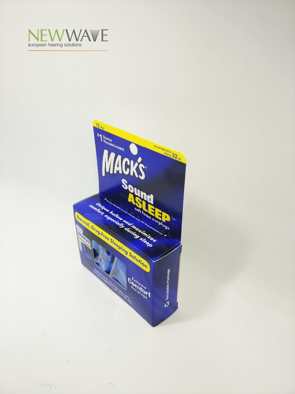 Mack's 12 pairs foam earplugs noise reduction hearing protection