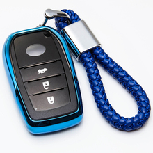 TPU Remote Car Key Case Cover For Toyota Camry CHR Corolla RAV4 Avalon Land Cruiser Prado Prius 2/3/4 Button 2017 2018 2019 soft tpu car key case cover keychain for toyota avalon 8 camry 2019 levin ioza chr