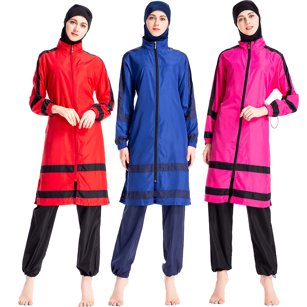 Womens Modest Swimsuit Swimwear 3 Pieces UV Sun Protection UPF 50+