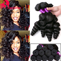 Peruvian Virgin Hair Loose Wave 3Bundles Deals 8A Unprocessed Peruvian Loose Wave Virgin Hair Soft Peruvian Human Hair Weaves