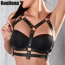 ผู้หญิงเซ็กซี่ Harness Bondage กรง Garter Belt Suspender BDSM Bra CAGE หนัง Harness Body Harajuku (China)