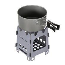 Ultralight Folding Wood Stove Camping Stove Portable Stainless Steel Wood Burning Stove for Camping Fishing Hiking Picnic BBQ все цены