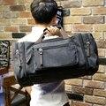 Xiao. p bolsa de Viagem Grandes Homens de Capacidade Saco Bagagem de Mão Sacos de Duffle Sacos de Viagem de Fim De Semana Da Lona Multifuncionais Sacos De Viagem Preto & khaki