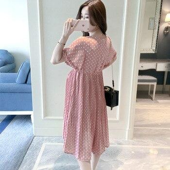 V-neck Chiffon Maternity Dresses for Pregnant Women 2