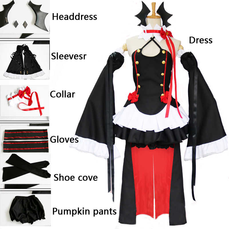 Anime Cosplay Owari Keine Seraph Der Ende Krul Tepes Perücken Lolita Kleid Vampire Anzug 8 Pcs Set Für Halloween karneval Party