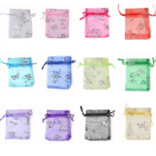 20P 7x9 9x12 11x16 13x18 15x20cm Drawable Organza Jewelry Packaging Bags Wedding Party Decoration Favors Gift Candy Pouches