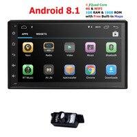 Hizpo 2din Android 8,1 универсальный GPS Радио стерео аудио автомобильный мультимедийный плеер для Nissan для KIA для Toyota для Honda TPMS
