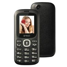 Оригинальный ipro I3185 Dual SIM Разблокирована Мобильные телефоны gsm SC6531DA 1.77 дюймов Bluetooth сотовый телефон с Английский испанская Язык