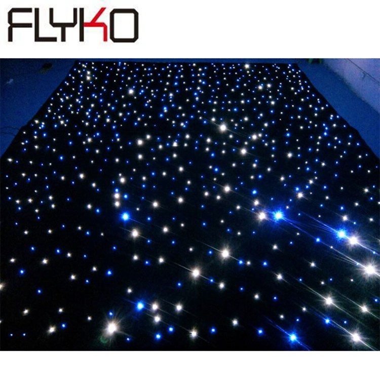 LED star curtain 4M x 6M led light display stage indoor flex fireproof BW leds curtain 16pcs/sqm|Stage Lighting Effect| |  - title=