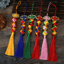 10 Pcs Polyester Chinese Knots Knotting Tassel Blessing Family Reunion Lucky Gifts Fringe Trim Pendant Decoration