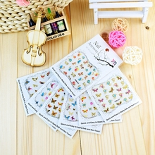 Nail-Art-Stickers Decals Decoration Self-Adhesive Gold Butterfly-Design Metallic Colorful