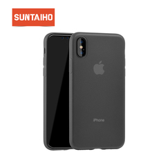 Suntaiho frosted phone Case for iphone X Case for iphone 8 plus Back Cover Matte Ultra Thin TPU phone case for iphone 7 6s case