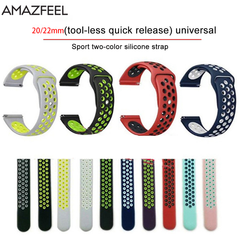 AMAZFEEL Silicone Sports Band for xiaomi Huami Amazfit Bip/PACE Amazfit stratos 2 Smart Watch band Replacement Wristband