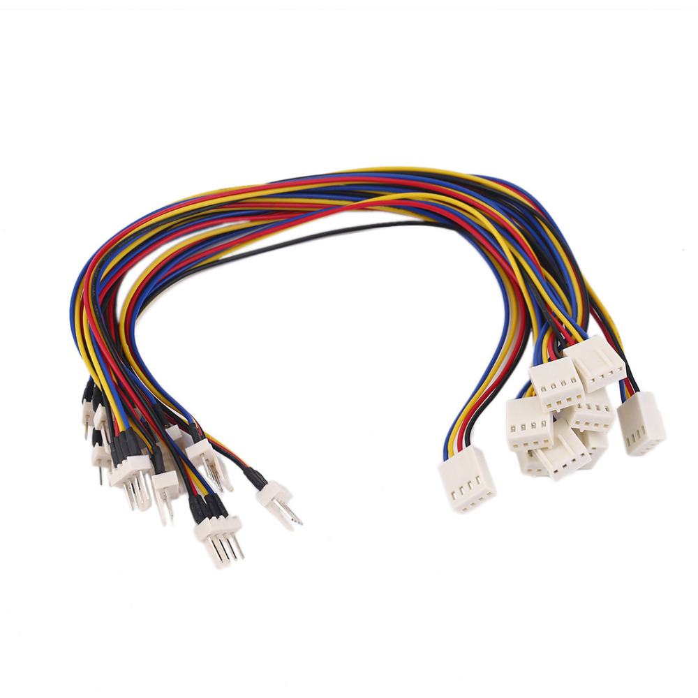 1Pc/ 10Pcs  4 Pins Male To Female CPU Cooling Fan Extension Resistor Cable Wire Internal Power Extension Cable Cord