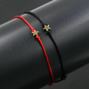 Bracelet assorti couple rouge et noir