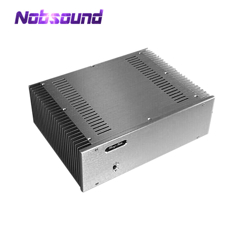 Nobsound Aluminum Enclosure Class A Power Amplifier Chassis Silver Box DIY Cabinet Case nobsound hi end audio noise power filter ac line conditioner power purifier universal sockets full aluminum chassis