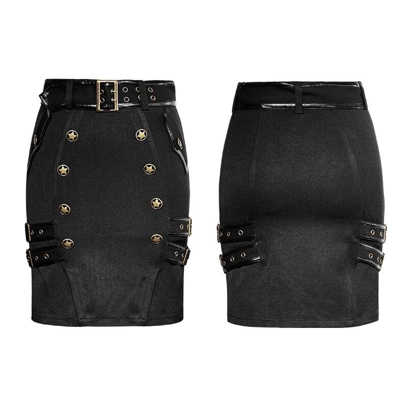 Falda Cintura Partido Steampunk Alta Estilo Gótico Uniforme Militar Del Señora Moda Mujer FF7BSqvP