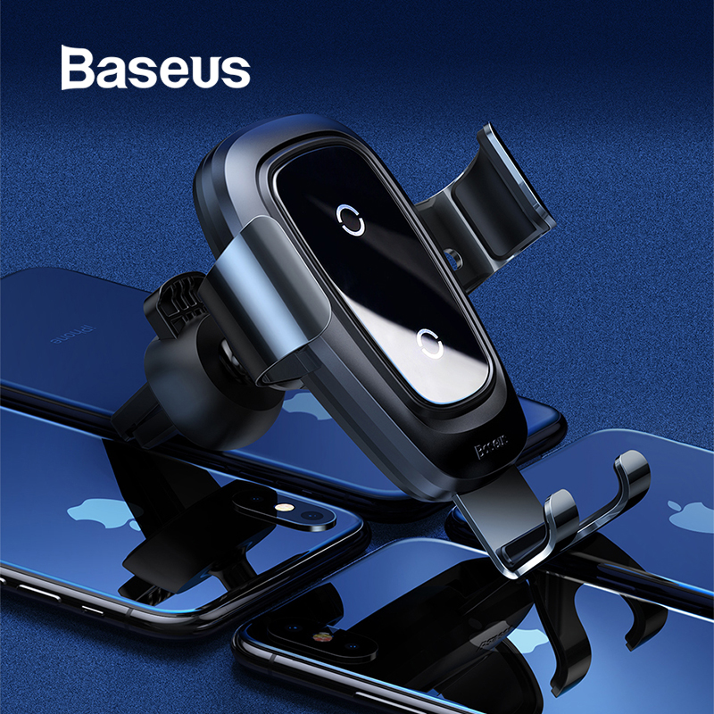 Baseus Wireless Car Charger Phone Holder For iPhone X 8 Plus Samsung S9 S8 Mobile Phone Charger In Car Wireless Charging Holder Baseus Wireless Car Charger Phone Holder For iPhone X 8 Plus Samsung S9 S8 Mobile Phone Charger In Car Wireless Charging Holder