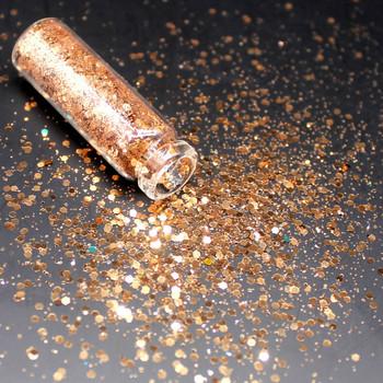 1 butelka jasne złoto holograficzny cekiny brokat Shimmer diamentowe oko błyszczące skóry wyróżnienia twarzy brokat festiwal makijaż Shinning tanie i dobre opinie Federacja rosyjska