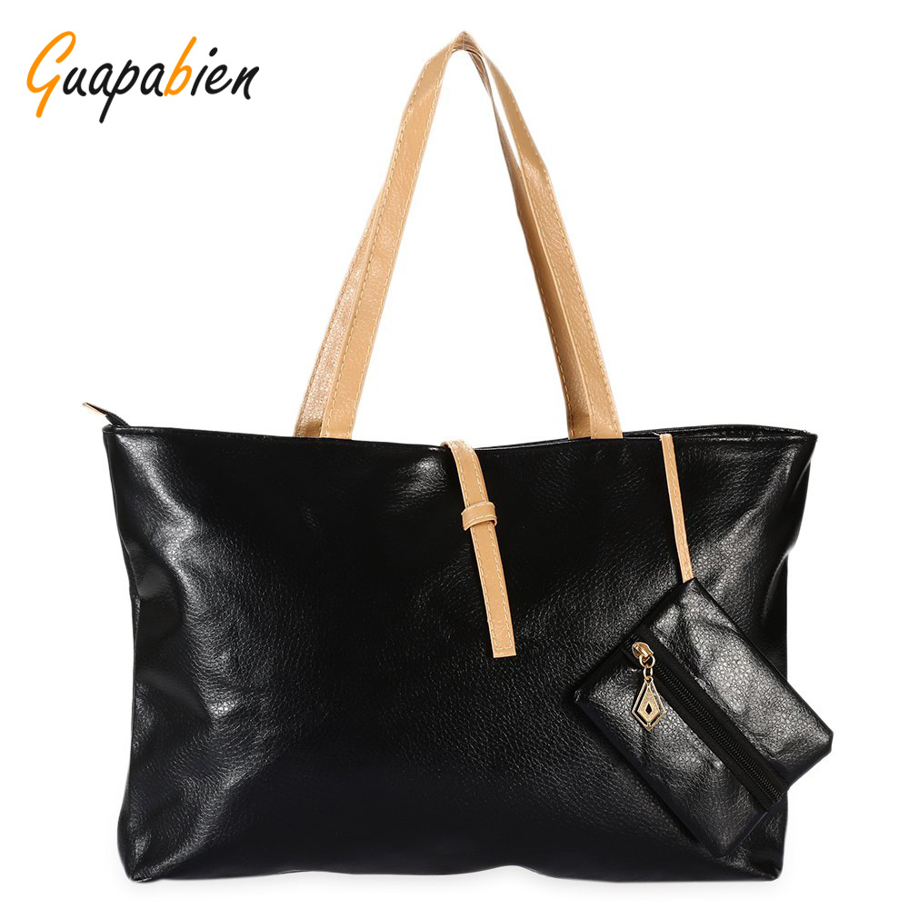 Guapabien Women Leather Handbag With Coin Purse Causal Ladies Tote Shoulder Clutch Bag Candy Color Sac Bolso Messenger Bags usb lan prolink pb460 0150