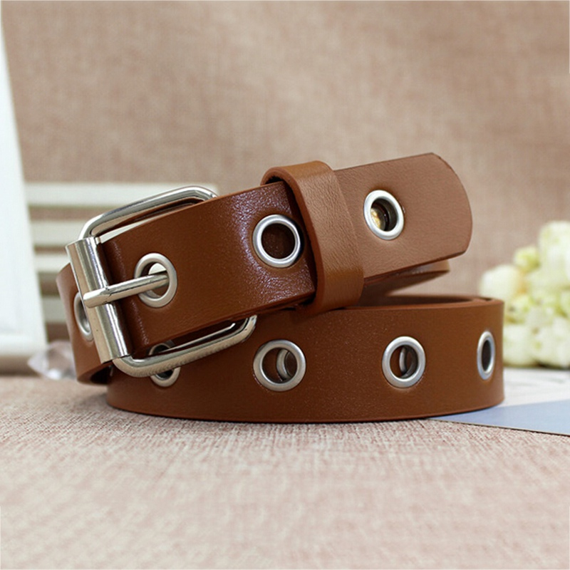 Long Personality Design HOT Casual Ring Black Metal Belt Female Students Jean Canvas Waist Belts Tide Silver Pin Buckle Men Lady