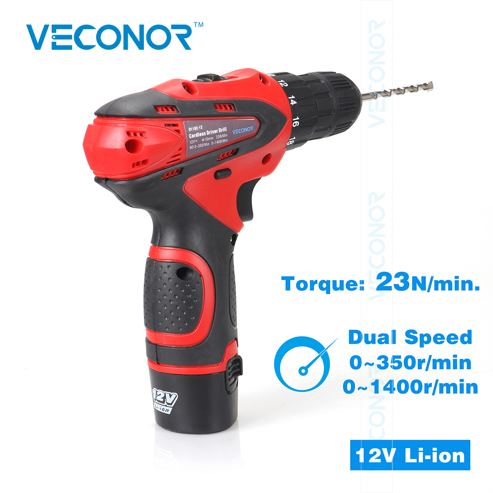 12V Cordless Electric Screwdriver Power Drill Tool Rechargeable Battery Household DIY Tools For Woodworking Metalworking drill buddy cordless dust collector with laser level and bubble vial diy tool new