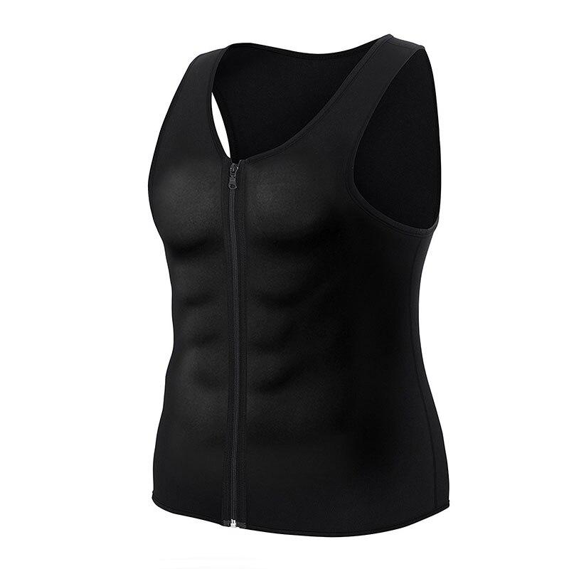 Sport Running Vest Slimming Reduction Shape Bodysuits Man T-Shirt Fitness Gym Sauna Muscular Development Weight Loss Fat Burning (1)