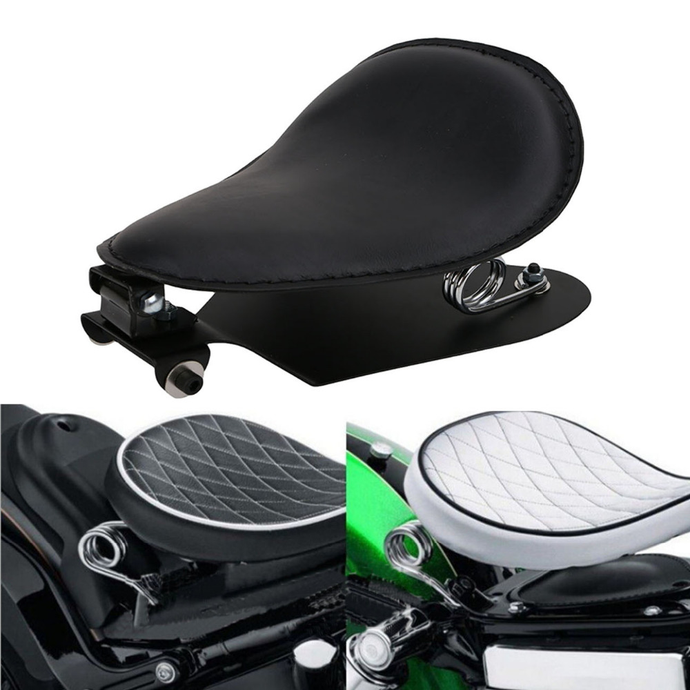 1Set Black Motorcycle Solo Driver Seat & 3