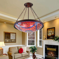 Wholesale Tiffany Chandelier Restaurant Glass Chandeliers Hotel Home Decoration Lights