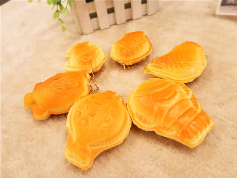 Kuutti мягкими 30 шт. новый медленно распрямляющийся мягкий Ароматические Taiyaki Японская еда Squishies оригинальная упаковка телефон ремень подарок для детей