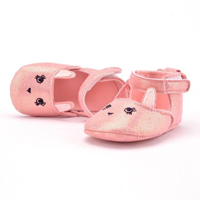 Baby Kids Girls Rabbit Pattern Crib Shoes Infant Anti Slip Shoes 0-1M Hot