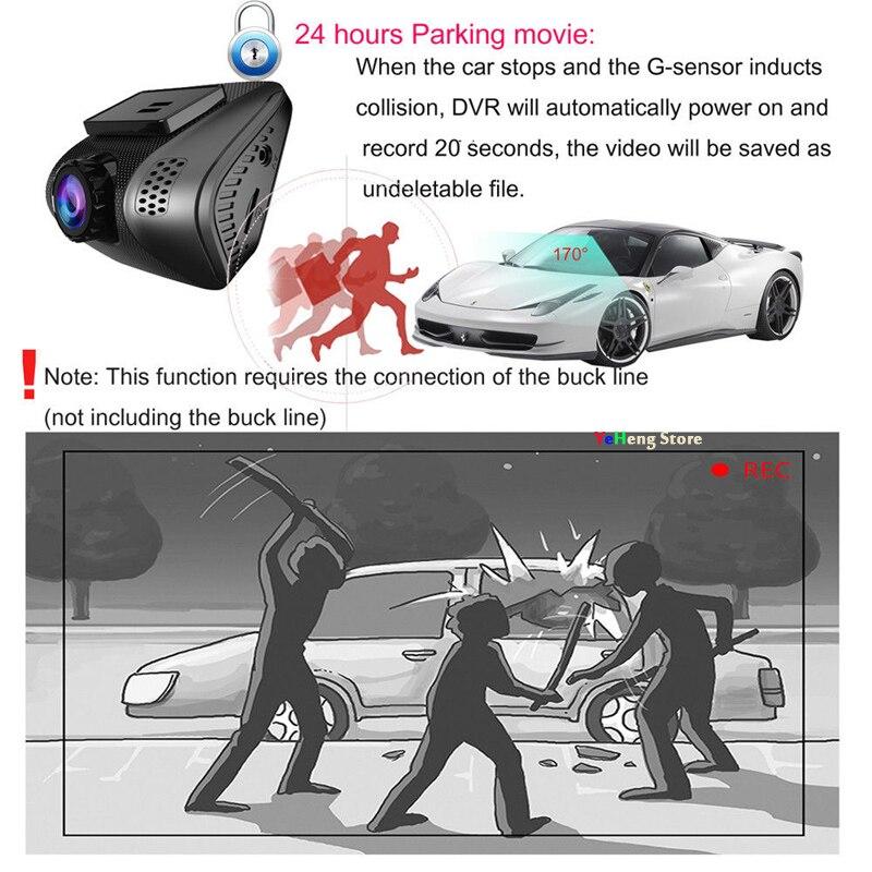 Mini 2.0 WIFI Dashcam Full HD 1080 P Auto DVR Camera Video Recorder 170 Graden met G sensor Nachtzicht Parking Monitor - 4