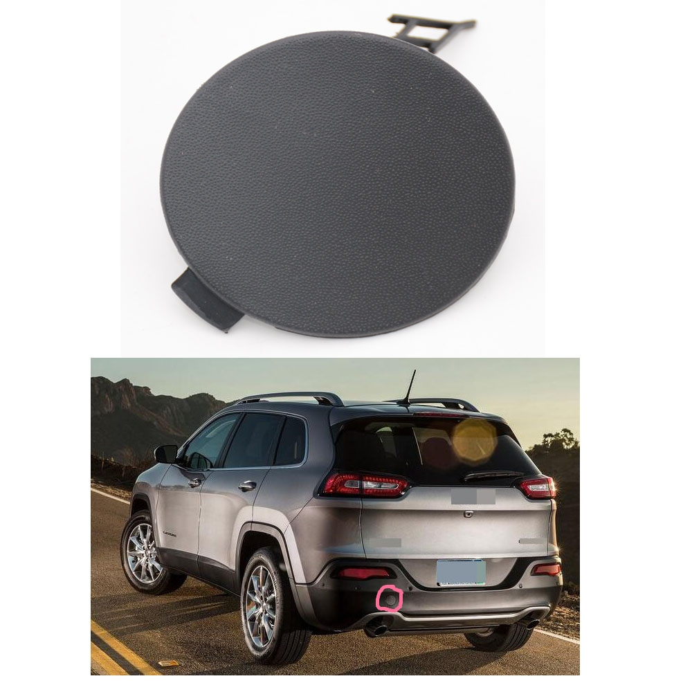 1 PC New Rear Tail Bumper Tow Hook Cover Eye Cap for Jeep Cherokee 2014
