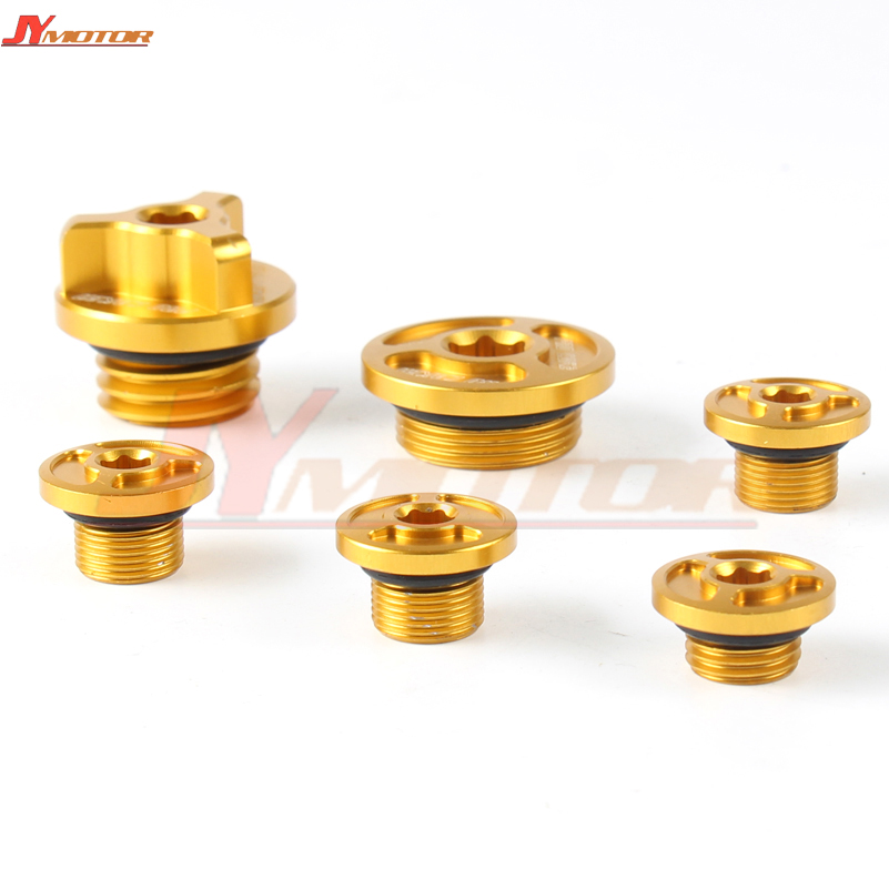 Motorcycle CNC Timing Oil Plug Screw Bolt Set For zongshen NC250 NC 250CC Water cool Engine Kayo K6 T6 Dirt Bike