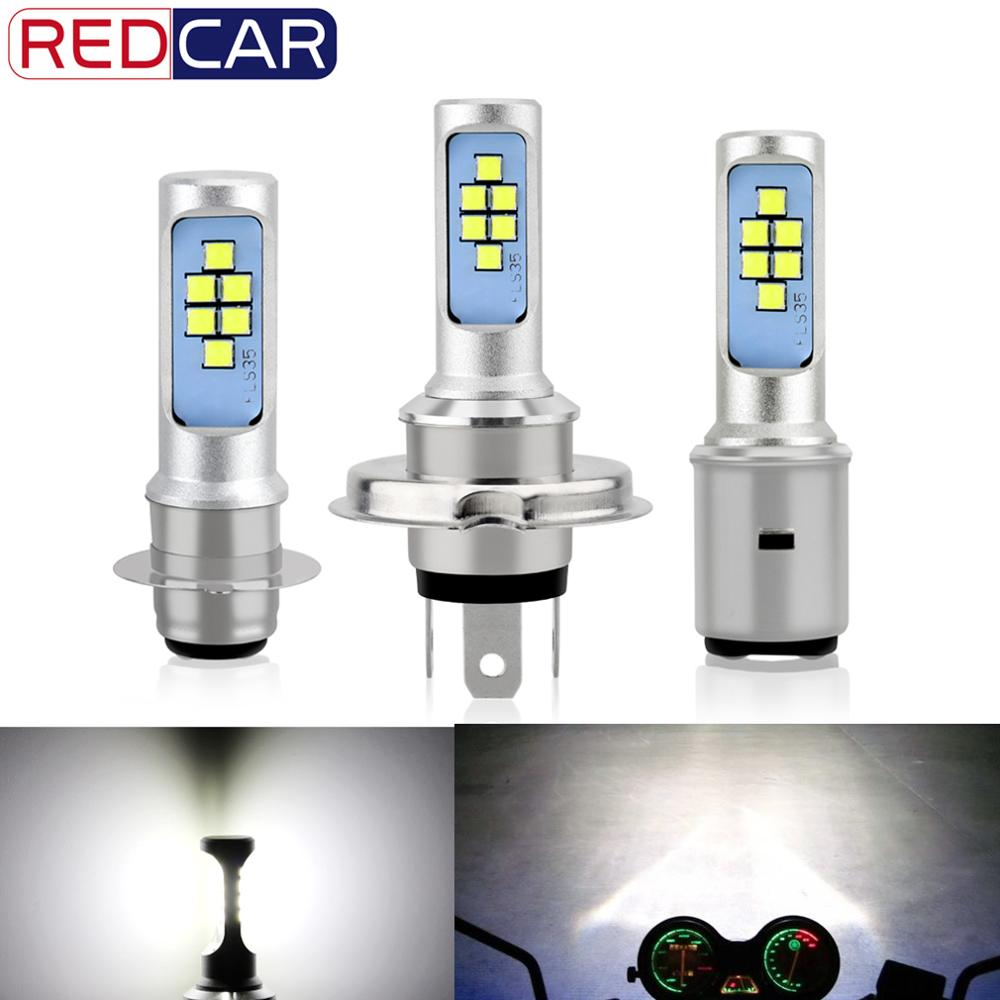 H4 H6 P15D BA20D Led Motorcycle Headlight Bulb 1200LM Canbus Fog Light 12SMD Hi Lo Lamp Scooter Accessories Moto DRL For Suzuki